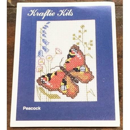 Kit ricamo - farfalla marrone/gialla/nera