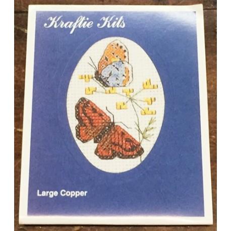 Kit ricamo - farfalle arancio/azzurre