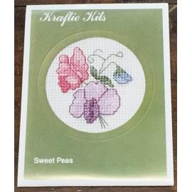 Kit ricamo - fiori lilla/rosa/azzurro