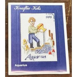 Kit ricamo - segni zodiacali: Aquario