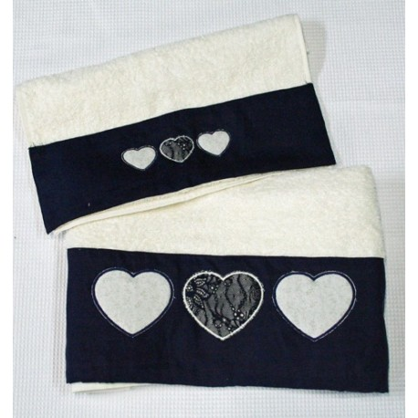 Pair of towels embroidered