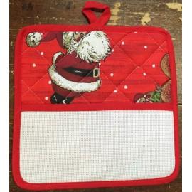 Presina quadrata col. Rosso/Babbo Natale