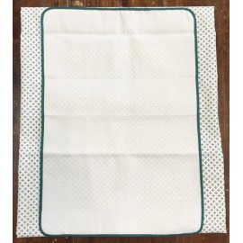 Tablecloth with. Ecru and green