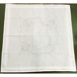 Placemat with printed design, DMC - Col. White