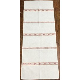 Runner christmas rough linen