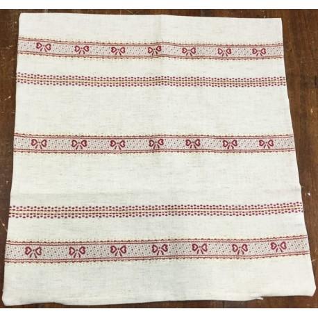 Federa cuscino natalizia in lino grezzo