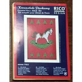 Kit ricamo - quadretto cavallino a dondolo