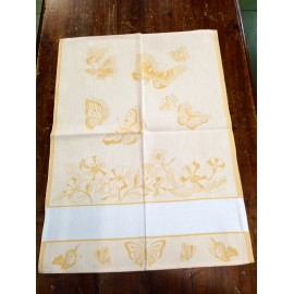 Cloth Butterflies and Flowers with. Yellow
