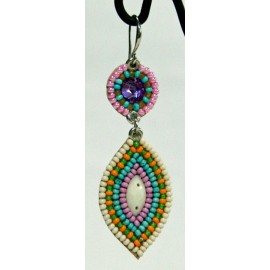 Earrings beaded embroidered