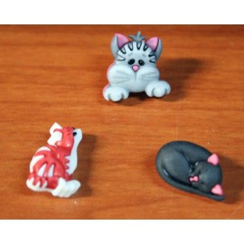 Buttons assortment cats