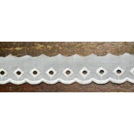 Sangallo con h.2,5 cm bianco