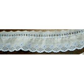 Sangallo con h.6 cm bianco