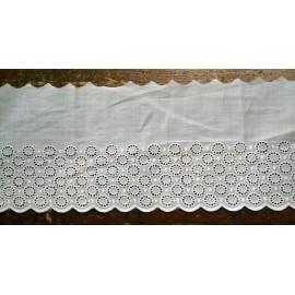 Sangallo con h. 6 cm bianco