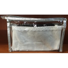 Clutch bag col. The silver trim